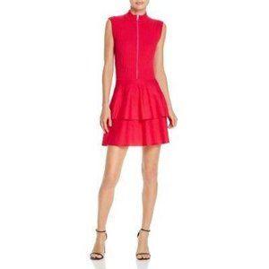 NWT Moschino Boutique Fuchsia Tiered Wool Dress